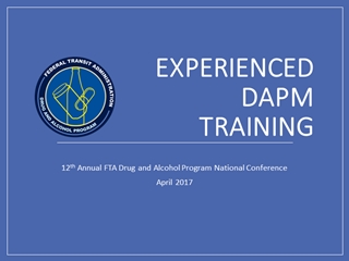 Experienced DAPM New Orleans 2017,