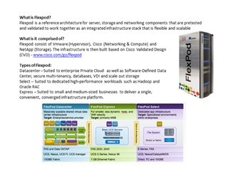 What is Flexpod Flexpod is a reference architecture for,