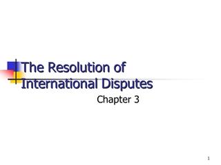 The Resolution of International Disputes - Syracuse University,