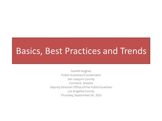 Basics, Best Practices and Trends,