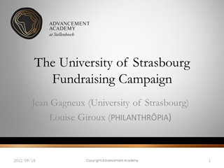 title - Jean Gagneux (University of Strasbourg) Louise Giroux (PHILANTHRÔPIA), 2012, 09 Digital slide making software