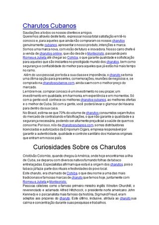 Charutos Apresentação,Online HTML PPT displaying platform