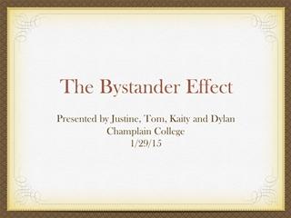 The Bystander Effect - Resident Assistant Digital slide making software