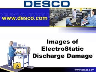 Images of ElectroStatic Discharge Damage, Damage visible using Scanning Electron,