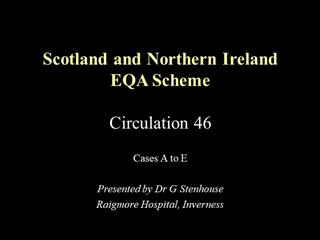 Scotland and Northern Ireland EQA Scheme Circulation XX,