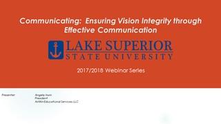 Communicating Ensuring Vision Integrity through Effective,