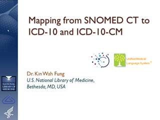 Mapping from SNOMED CT to ICD-10 and ICD-10-CM,