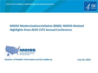 NMI eSHARE A Cornucopia of NNDSS Information (July 16, …,