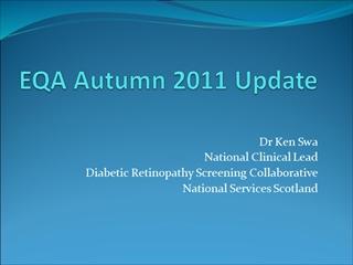 EQA Autumn 2011 Update,