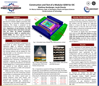 POSTER PHY PROTOTYPEGASELECTRONMULTIPLIER - Construction and Test of a Modular GEM for EIC Matthew Bomberger,