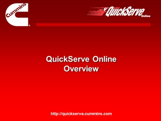 QSOL Overview Demo - Cummins QuickServe Online,