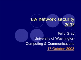 Security in the post internet era II,