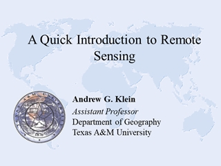 A Quick Introduction to Remote Sensing,