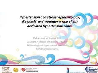 Hypertension and stroke how dedicated Hypertension,