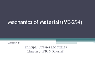 Mechanics of Materials(ME 294),