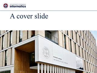 A cover, The Milner Moshe Vardi, Informatics Forum 'We shape our buildings,
