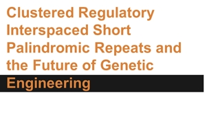 Clustered Regulatory Interspaced Short Palindromic Repeats,
