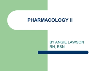 PHARMACOLOGY II, BY ANGIE LAWSON RN, BSN, SULFONAMIDES, Bacteriostatic - antagonism to PABA Digital slide making software