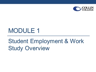 Student Employment and FWS Overview - Updated 09 10 2015,
