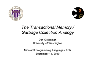 The Transactional Memory Garbage Collection Analogy,