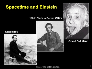 Spacetime and Einstein, 1905: Clerk in Patent Office, Grand Old Man,