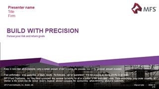 BUILD WITH PRECISIONPursue your risk and return goals, Presenter name Title Firm Digital slide making software