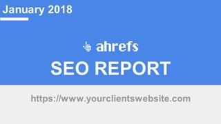 SEO Report [Template],Online HTML PPT displaying platform