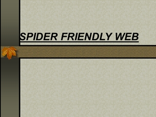 SPIDER FRIENDLY WEB, Meta Tags, Make sure your web includes Meta Name: Title Keywords Description,