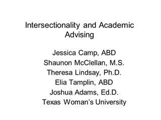 Interality and Academic Advising - NACADA Home,