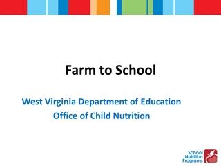 FarmtoSchool wTemplate - Farm to School, West Virginia Dement of Education Office of Child Nutrition,