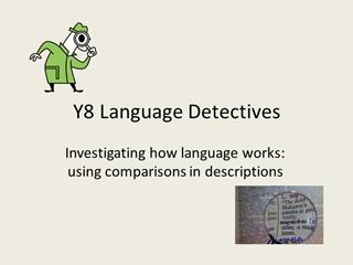 Y8 Describing with comparisons Digital slide making software