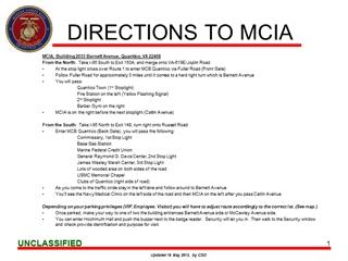 DirectionsMCIA - DIRECTIONS TO MCIA, MCIA, Building 2033 Barnett Avenue, Quantico, VA Digital slide making software