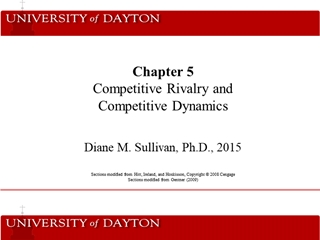 Competitive Rivalry and Competitive Dynamics, Diane M, Sullivan, Ph, 2015 s modified from Hitt Digital slide making software
