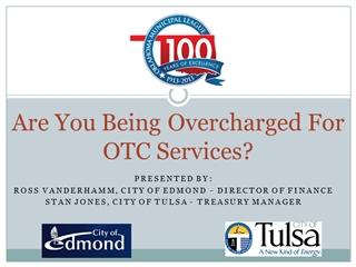 Oklahoma HB 1875 - Presented by: ROSS VanderHamm, City of Edmond - Director of Finance Stan Jones,