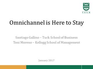Omnichannel is Here to Stay, Santiago Gallino – Tuck School,