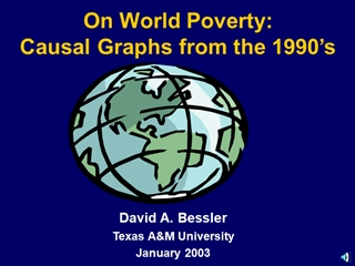 FAO2 - On World Poverty: Causal Graphs from the 1990's, David A,