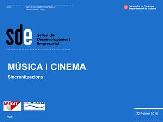 Presentación de - 22 Febrer 2018, MÚSICA i CINEMA, Wifi:, QUE FA LA MÚSICA DINS EL CINEMA Digital slide making software