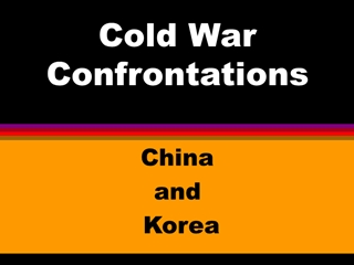Cold War Confrontations, China and Korea, CHINA, Communists led by,