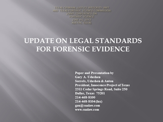 TEXAS CRIMINAL JUSTICE INTEGRITY AND TEXAS …,