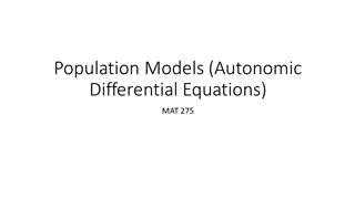 Population Models (Autonomic Differential Equations) Digital slide making software