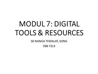 TUGASAN MODUL 7 SK NANGA TEMALAT, SONG,Online HTML PPT displaying platform