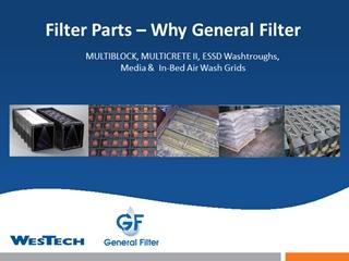 Filters - Filter s – Why General Filter, MULTIBLOCK, MULTICRETE II, ESSD Washtroughs,