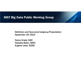 NIST Big Data Working Group,
