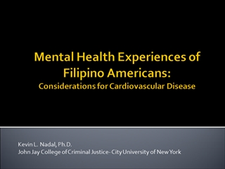 Mental Health Experiences of Filipino Americans,