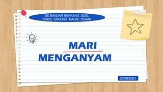 MARI MENGANYAM Digital slide making software