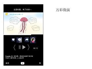 万彩微演,Online HTML PPT displaying platform