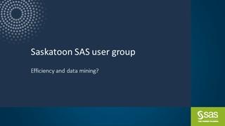 Saskatoon SAS user group,