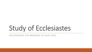 Study of Ecclesiastes - Razor Planet,