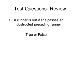 Test Questions - Review - IPOWER,