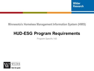 Program Specific HUD ESG 1,